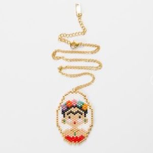Frida Kahlo Beaded Necklace